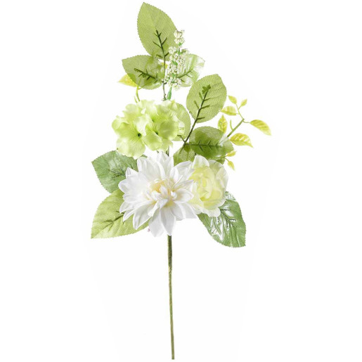 Creanga decorativa artificiala dalia trandafir 46 cm