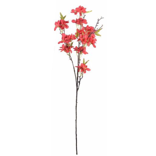 Crenguta artificiala flori rosii 89 cm