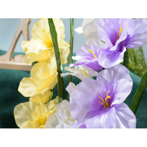 Floarea artificiala gladiola galbena 78 cm