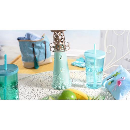 Suport lumanare ceramic decor Far 9 cm x 26 cm