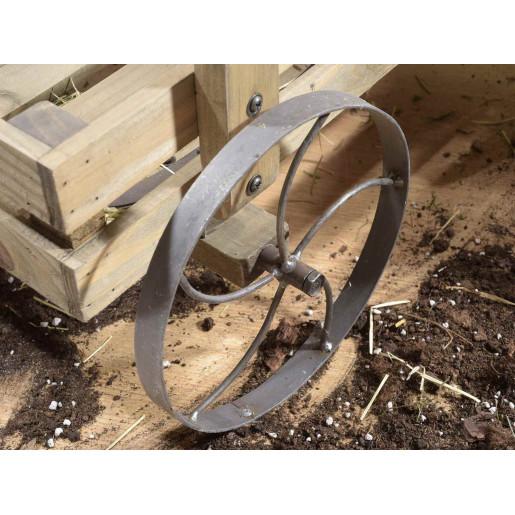Carucior din lemn natur cu 2 polite 70,5 cm x 48 cm x 86 h
