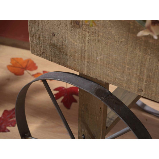 Carucior candy bar din lemn natur 92 cm x 44.5 cm x 94 h