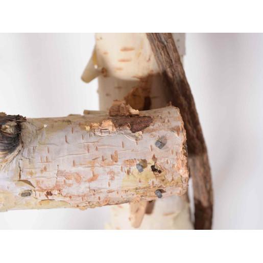 Scara decorativa lemn alb