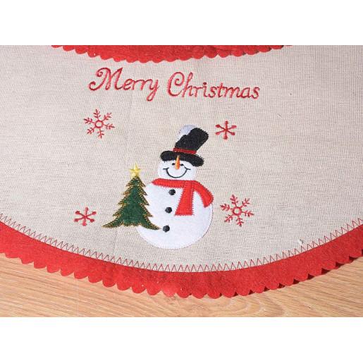 Covoras brad Merry Christmas Snowman
