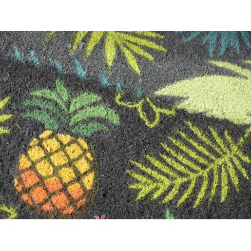 Covoras intrare casa antiderapant fibre cocos model Ananas 60 cm x 40 cm