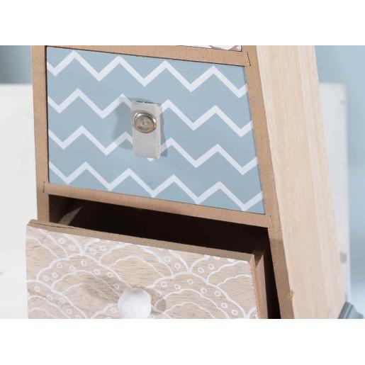 Caseta bijuterii lemn 3 sertare House cm 14,5 x 8 x 28 H