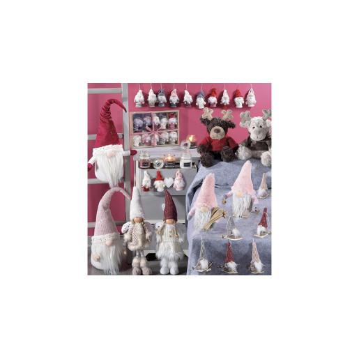 Inger decorativ portelan textil caciula burgundy 16 cm x 41H