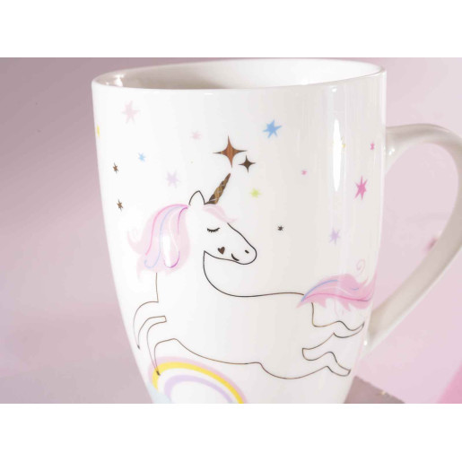 Cana portelan model Unicorn Ø 8 cm x 11 H  350 ml