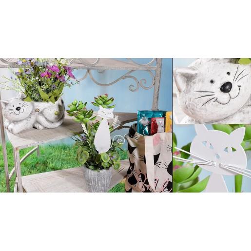 Suportghivece flori fier forjat alb vintage  Majestic White  56 cm x  82 cm x 60 H