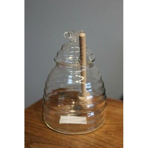 Borcan sticla decorativ pentru miere Ø 9 cm x 13 cm 0,43 L
