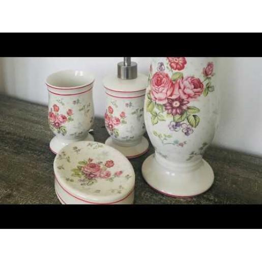 Set baie Roses 3 piese Ø 8*12 cm / Ø 8*20 cm / 14*10*3 cm