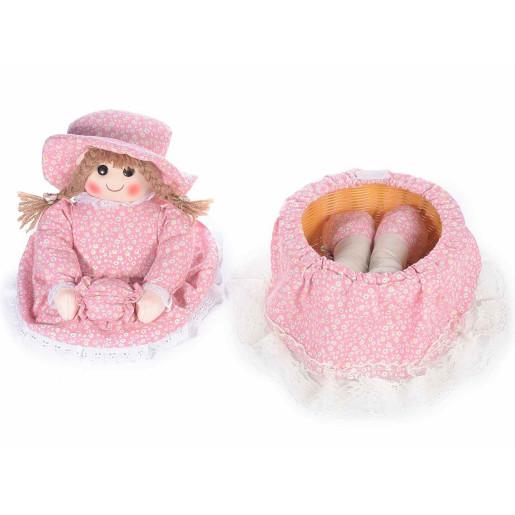 Papusa textil Pink 20 x 28 x 33 H