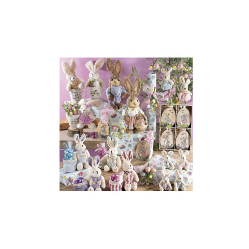 Set cadou cana si figurina Iepuras papion verde Ø 9 cm x 11 h / 340 ml