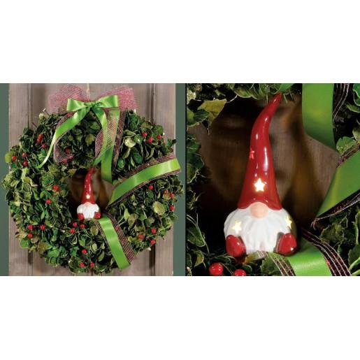 Coronita Craciun suspendabila Berry Glitter 30 cm