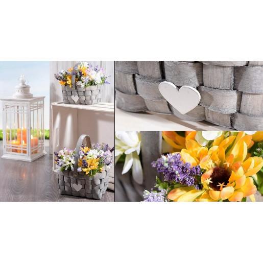 Buchet flori de camp si floarea soarelui White