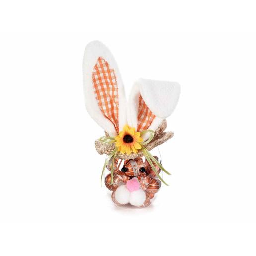 Borcan Paste model Iepuras urechi portocaliu 9 cm x 23 h