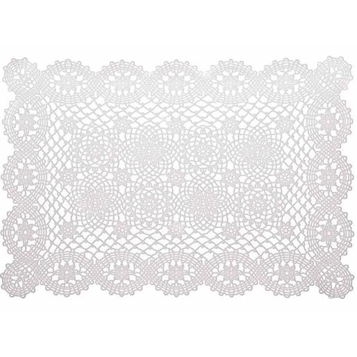 Suport farfurie alb dantelat 45 cm x 30 H