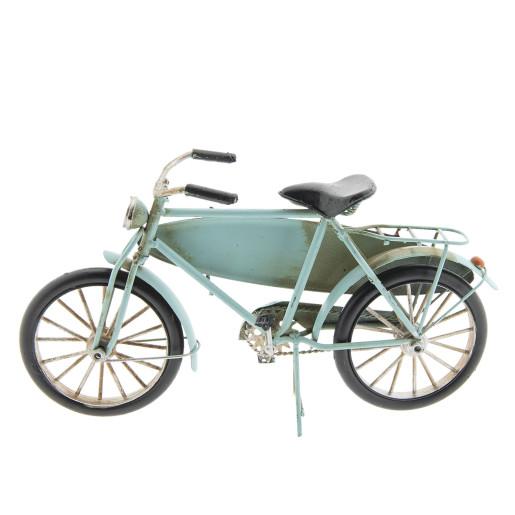 Macheta bicicleta cu placa surf retro metal 29x15x9 cm