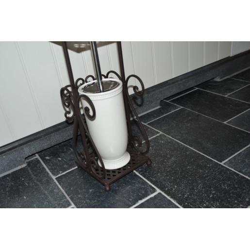 Suport fier forjat maro hartie igienica Elegance 17 cm x 17 cm x 97 cm
