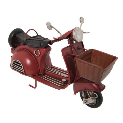 Macheta scuter retro burgundy metal 16*7*11 cm