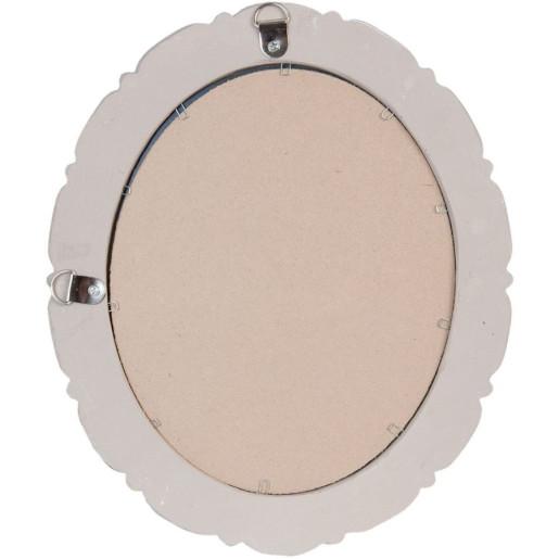 Oglinda de perete cu rama lemn gri vintage 28 cm x 33 cm