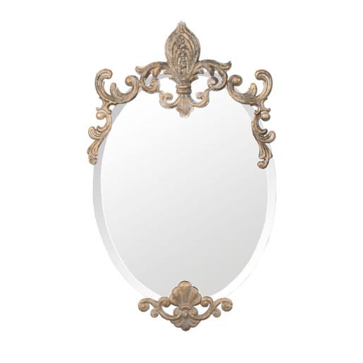 Oglinda de perete auriu vintage Baroc 33x3x52 cm