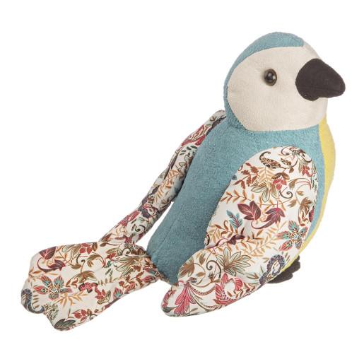 Opritor de usa textil albastru Papagal 20x22h