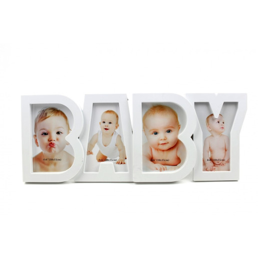 Rama foto de masa plastic alb 45 cm x 19 cm