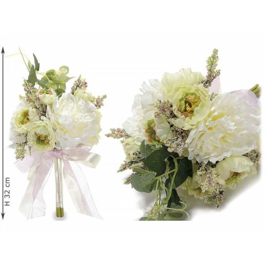 Buchet decorativ camelii cm 12 x 32 H