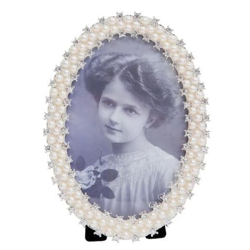 Rama foto  de masa Elegance decor perle albe 12 cm x 16 cm