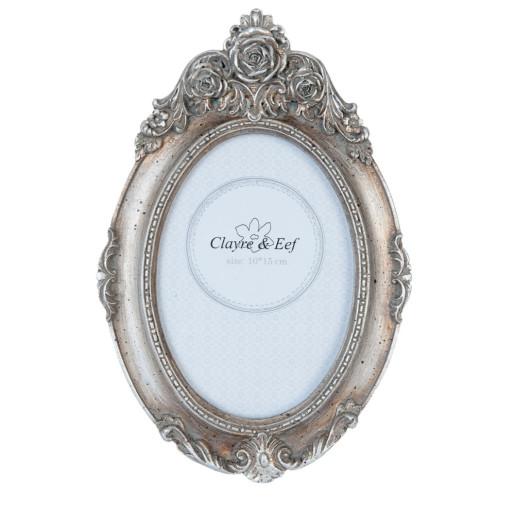Rama foto de masa polirasina argintie Elegance Roses 16 cm x 23 cm