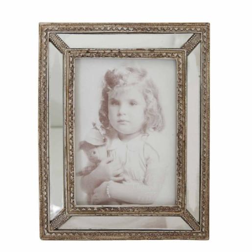Rama foto de masa polirasina argintiu antichizat  Annabel 14 cm x 17 cm