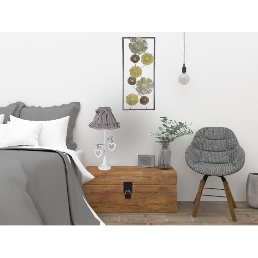 Veioza decorativa lemn cu 2 rame foto Gloria 25,5x25,5x54h