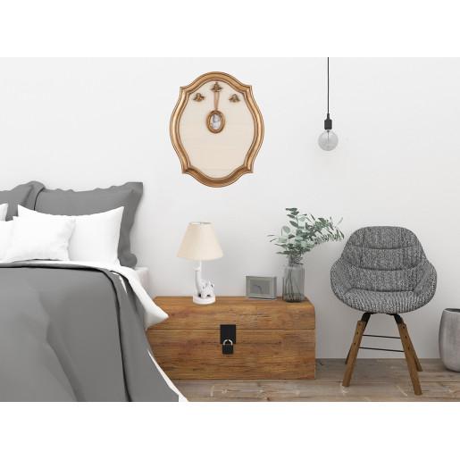 Decoratiune suspendabila pentru perete polirasina auriu cu rama foto Memo Board Baroc 58*4*47 cm
