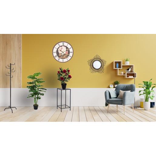 Oglinda decorativa de perete rama bambus maro Ø 55 cm