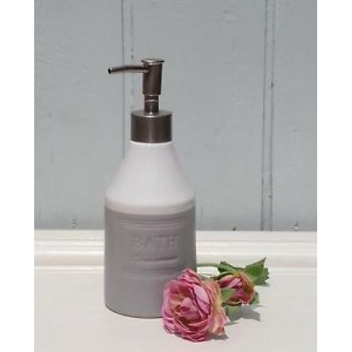 Dispenser ceramica gri pentru sapun Bath Ø 8x20 cm 0,35 L