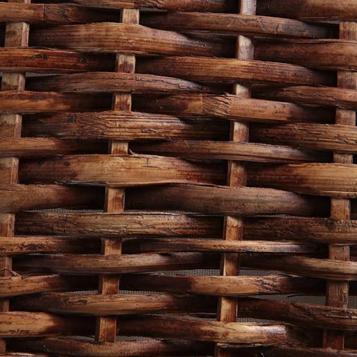 Cos depozitare din rattan textil maro Lily 60 cm x 35 cm x 38H