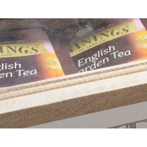 Cutie ceai lemn alb natur I Love Tea sticla cm 16 x 9 cm x 5 H