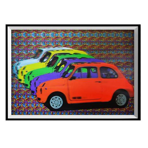 Tablou decorativ 3D Car 28x38h