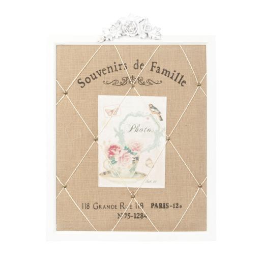 Decoratiune suspendabila pentru perete Memo Board Souvenirs de Famille 46*2*61 cm