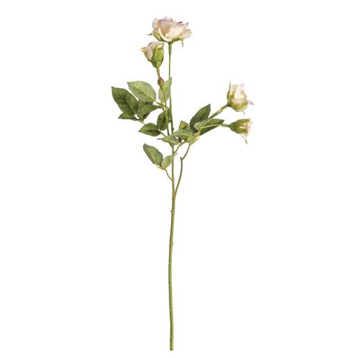 Trandafir artificial 4 flori roz pudrat 39h