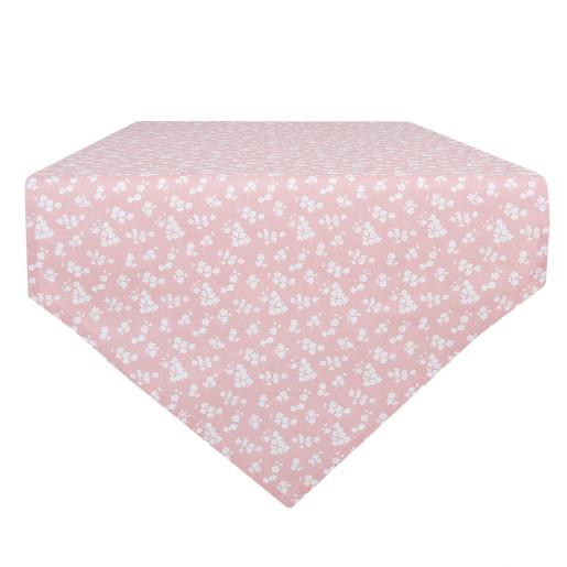 Runner bumbac roz pudrat Flowers 50*160 cm