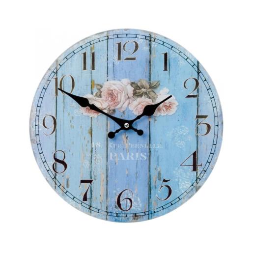 Ceas de perete lemn Roses Ø 30 cm