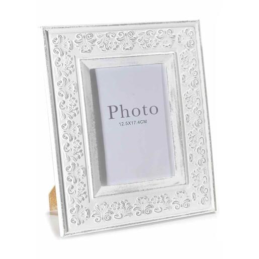 Rama foto de masa  lemn alb antichizat Gloria cm 24 cm x 29 H