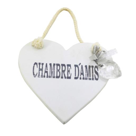 Decoratiune lemn inima mesaj Chambre d'amis