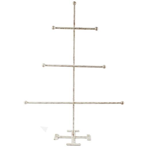 Suport bijuterii fier forjat alb cu patina aramie  40 cm x 72 cm