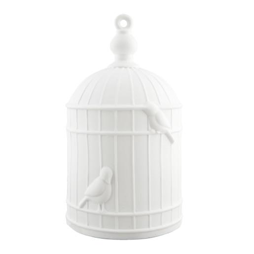Veioza decorativa ceramica alba model Colivie Ø 16x28 cm E27 max
