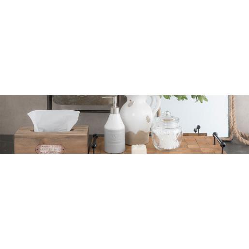 Dispenser ceramica gri pentru sapun Savon de Marseille Ø 7x19 cm 0,35 L