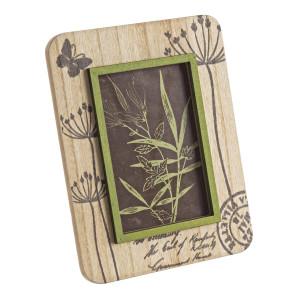 Rama foto de masa lemn verde crem Hollis 17 cm x 22 h