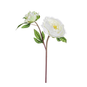 Floare artificiala Peonia alba 43 cm